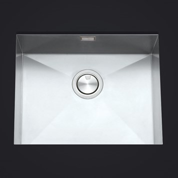 Clearwater Stark Single Bowl Brushed Stainless Steel Undermount Sink & Waste - 540 x 440mm