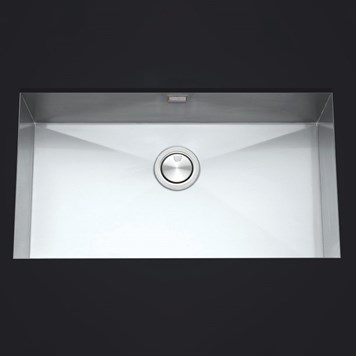 Clearwater Stark Single Bowl Brushed Stainless Steel Undermount Sink & Waste - 780 x 430mm