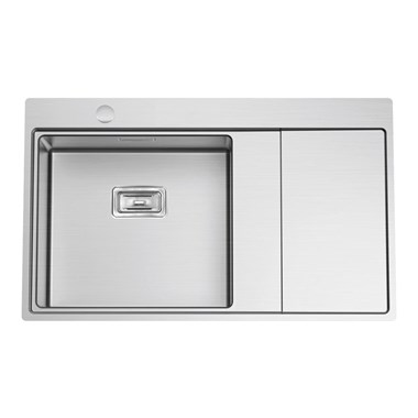 Clearwater Xeron 86 Single Bowl Brushed Stainless Steel Sink & Left Hand Drainer