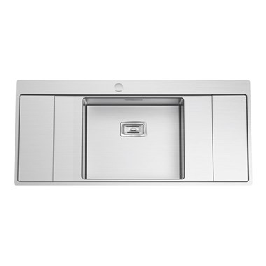 Clearwater Xeron B50 Single Bowl Brushed Stainless Steel Sink With Double Drainer