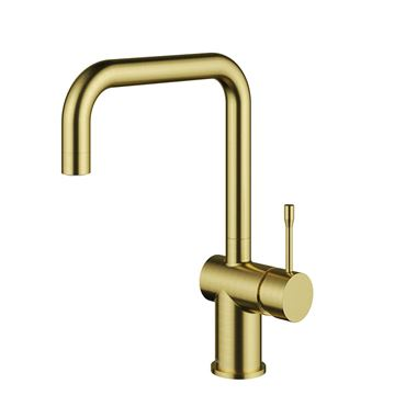 Clearwater Zodiac Single Lever Mono Kitchen Mixer - Artisan Brass