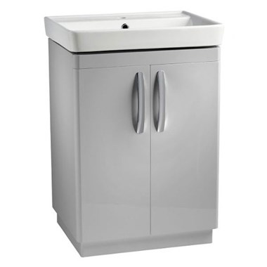 Tavistock Compass 600mm Free Standing Vanity Unit - Grey