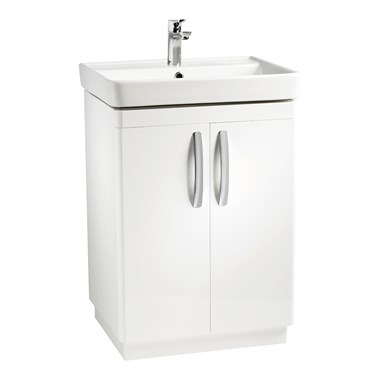 Tavistock Compass 600mm Free Standing Vanity Unit - Gloss White