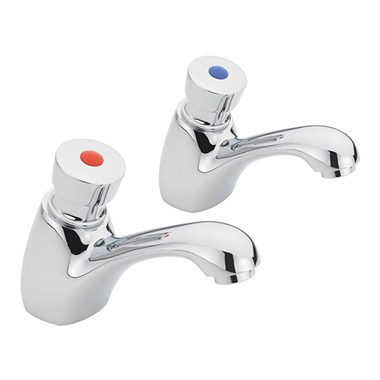 Sagittarius Contract Non Concussive Push Button Basin Taps