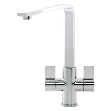 Caple Colton Twin Lever Mono Kitchen Mixer - Chrome