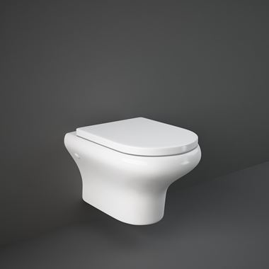 RAK Compact Wall Hung Rimless Toilet with Soft Close Seat