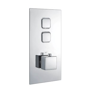 Harbour Push Button Twin Square Concealed Shower Valve
