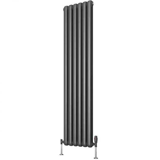 Reina Coneva Steel Column 1800mm Vertical Designer Radiator - Anthracite