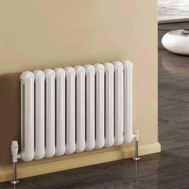 Reina Coneva Steel Column Horizontal Designer Pre-Filled Electric Radiator - White - 550 x 440mm