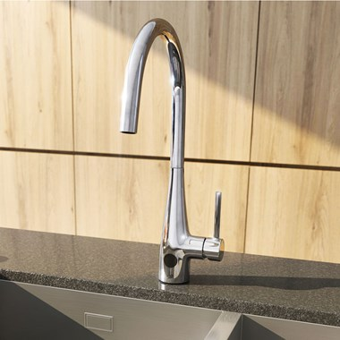 Crosswater Cucina Cook Side Lever Mono Kitchen Sensor Tap - Chrome