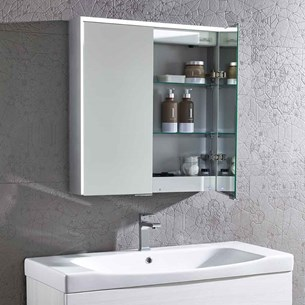 Roper Rhodes Compose LED Illuminated Bluetooth Mirror Cabinet with Stereo Speakers