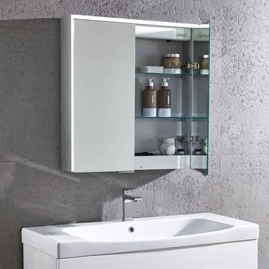 Roper Rhodes Lyric LED Illuminated Bluetooth Mirror Cabinet with Stereo Speakers