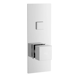 Hudson Reed Ignite Square One Outlet Push Button Concealed Shower Valve