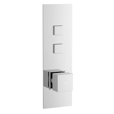 Hudson Reed Ignite Square Two Outlet Push Button Concealed Shower Valve
