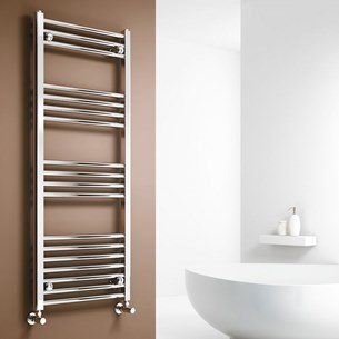Brenton Chrome Curved Heated Towel Radiator - 22mm - 1000 x 500mm