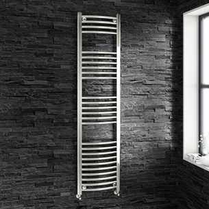 Brenton Chrome Curved Heated Towel Radiator - 22mm - 1600 x 400mm