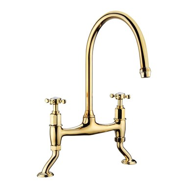 Butler & Rose Barbier Crosshead Kitchen Bridge Mixer in Gold