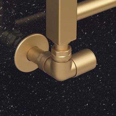 Crosswater MPRO Angled Valve - Brushed Brass Effect