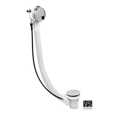 Crosswater VS Slimline Bath Filler with Pop-Up Waste