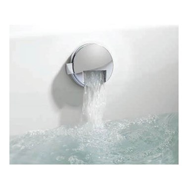 Crosswater VS Slimline Bath Filler with Integrated Overflow & Extended Click Clack Waste (100cm)