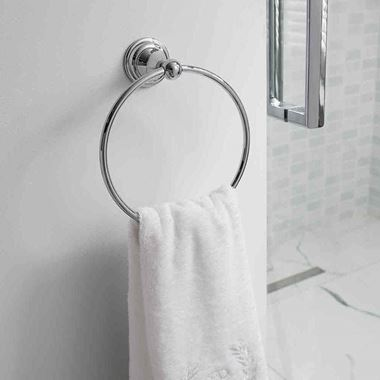 Crosswater Belgravia Towel Ring - Chrome