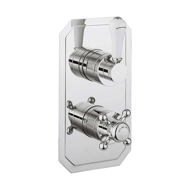 Crosswater Belgravia Lever Slimline Thermostatic Shower Valve with 2 Outlets