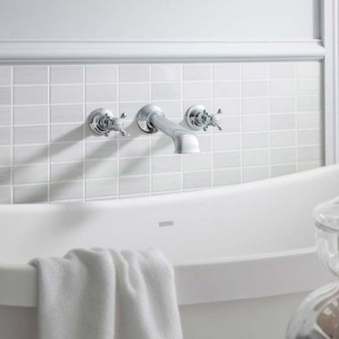 Crosswater Belgravia Crosshead Wall Mounted Bath Filler with Concealed Valves