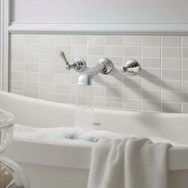 Crosswater Belgravia Lever Wall Mounted Bath Filler with Concealed Valves