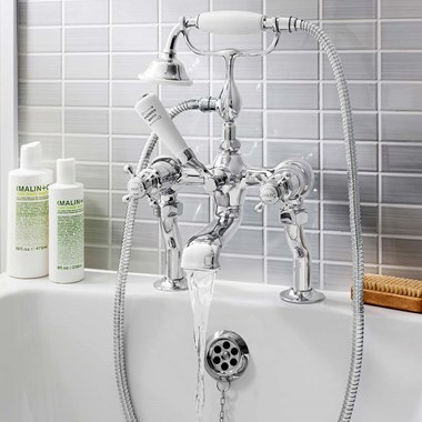 Crosswater Belgravia Crosshead Bath Shower Mixer with Shower Kit