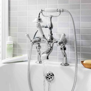 Crosswater Belgravia Lever Bath Shower Mixer with Shower Kit - Chrome