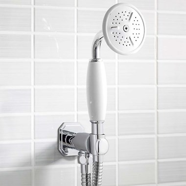 Crosswater Belgravia Shower Handset, Wall Outlet and Hose