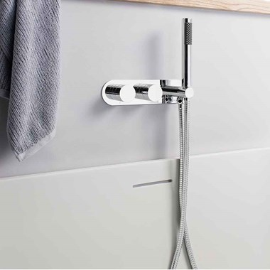 Crosswater Central Wall Mounted Thermostatic Shower Valve with Handset