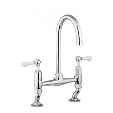 Crosswater Belgravia Lever Dual Lever Kitchen Mixer - Chrome