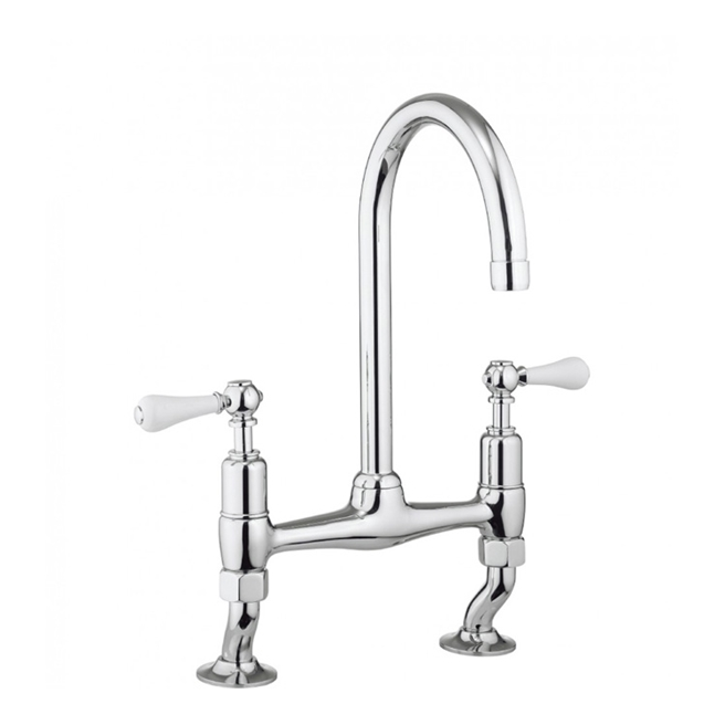 Crosswater Cucina Belgravia Lever Dual Handle Kitchen Mixer
