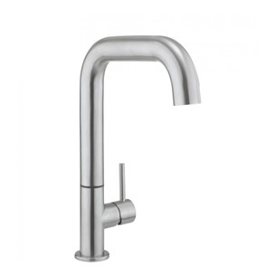 Crosswater Tube Side Lever Kitchen Mixer - Stainless Steel