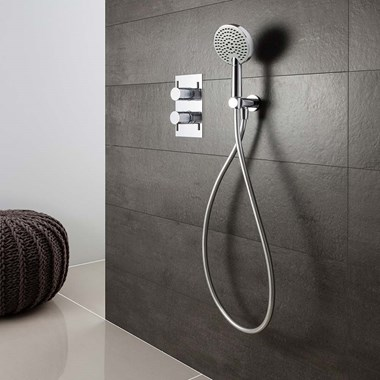 Crosswater Ethos Premium Mini Shower Kit with Triple Function Handset - 140mm