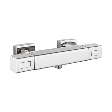 Crosswater Square Exposed Thermostatic Shower Bar Valve