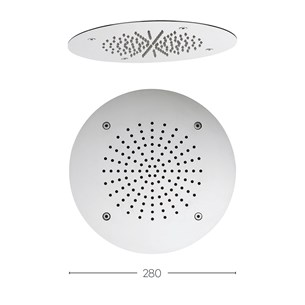 Crosswater Recessed Rainfall Shower Head 280mm