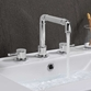 Crosswater MPRO Industrial 3 Hole Deck Mounted Basin Mixer Tap - Chrome