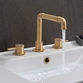 Crosswater MPRO Industrial 3 Hole Deck Mounted Basin Mixer Tap - Unlacquered Brushed Brass