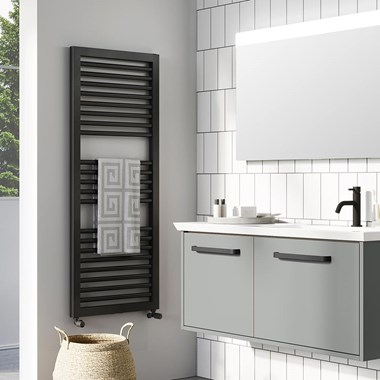 Crosswater Infinifty Heated Towel Rail - 1228 & 1813 x 500mm