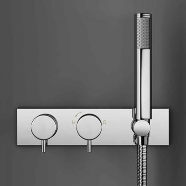 Crosswater Kai Lever Concealed Thermostatic Shower Valve with Handset