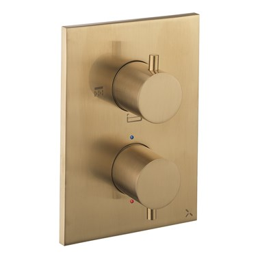 Crosswater MPRO Thermostatic 3 Outlet Shower Valve - Crossbox Technology - Brushed Brass