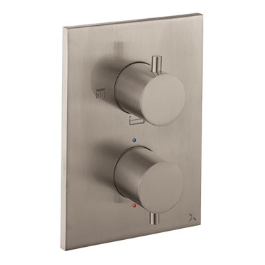 Crosswater MPRO Thermostatic 3 Outlet Shower Valve - Crossbox Technology - Stainless Steel Effect
