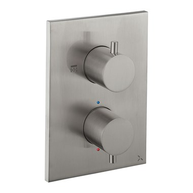 Crosswater MPRO Thermostatic 1 Outlet Shower Valve - Crossbox Technology - Stainless Steel Effect