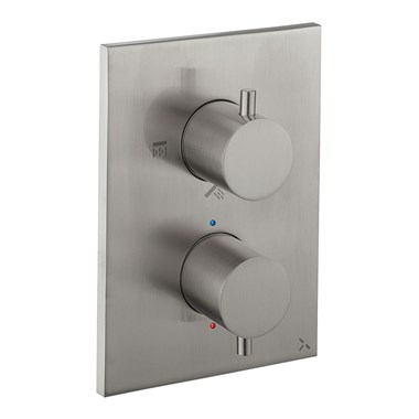 Crosswater MPRO Crossbox 3 Outlet Trim & Levers - Stainless Steel Effect