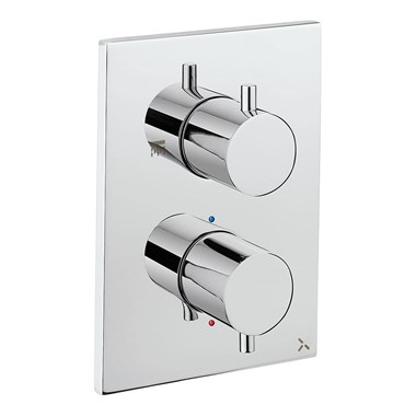 Crosswater MPRO Thermostatic 2 Outlet Shower Valve - Crossbox Technology - Chrome