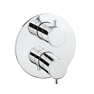 Crosswater MPRO Industrial Thermostatic 2 Outlet Shower Valve - Crossbox Technology - Chrome