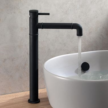 Crosswater MPRO Industrial Tall Basin Mixer Tap - Carbon Black