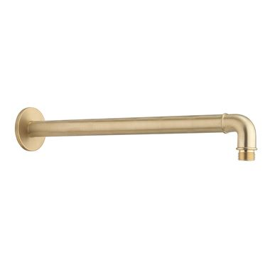 Crosswater MPRO Industrial 330mm Shower Arm - Unlacquered Brushed Brass